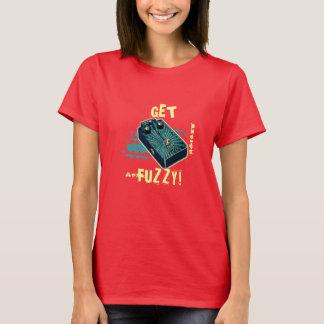 Get Fuzzy! Fuzz Guitar Pedal Blue Aqua Psychedelic T-Shirt