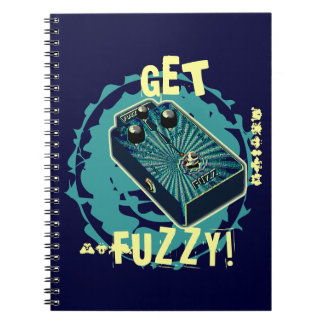 Get Fuzzy! Fuzz Guitar Pedal Blue Psychedelic 2 Spiral Note Books