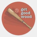 Get Good Wood Baseball Sticker