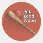 Get Good Wood t-shirt2.ai Round Sticker