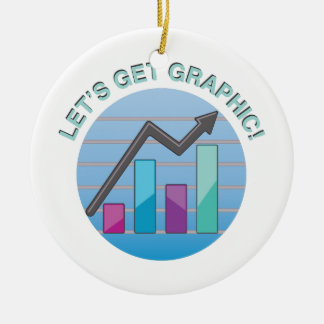 Get Graphic Ceramic Ornament