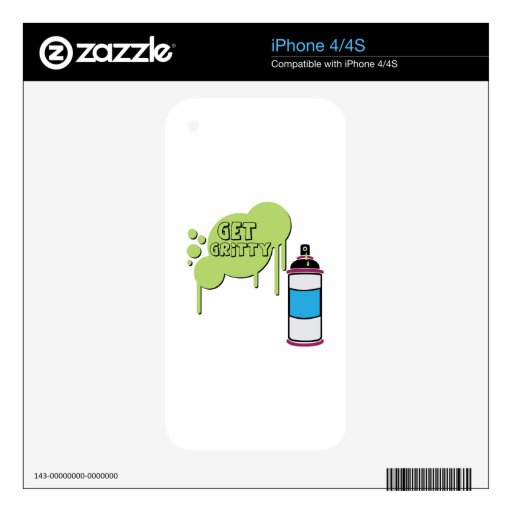 Get Gritty iPhone 4 Decals