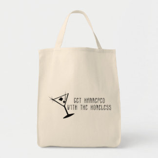 Get Hammered With The Homeless Martini Canvas Bag