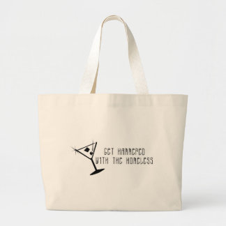 Get Hammered With The Homeless Martini Canvas Bags