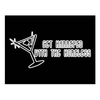 Get Hammered With The Homeless Martini Postcard