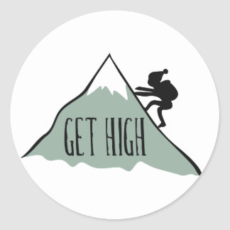 Get High Classic Round Sticker