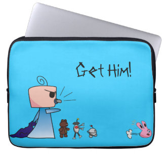 """""""Get Him"""" Laptop Sleeve - An Angry Baby Design"""