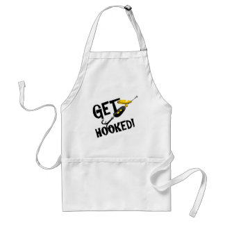 Get Hooked Fishing T-shirts and Gifts. Apron