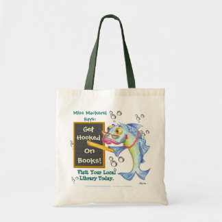 Get Hooked On Books! Canvas Bags