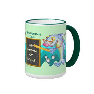 Get Hooked On Books! Ringer Coffee Mug