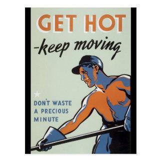 Get Hot World War 2 Postcard