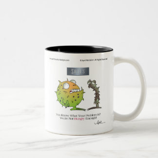 GET HUNGRY! by April McCallum Two-Tone Coffee Mug