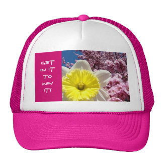 GET IN IT TO WIN IT! sports hat competition Flower