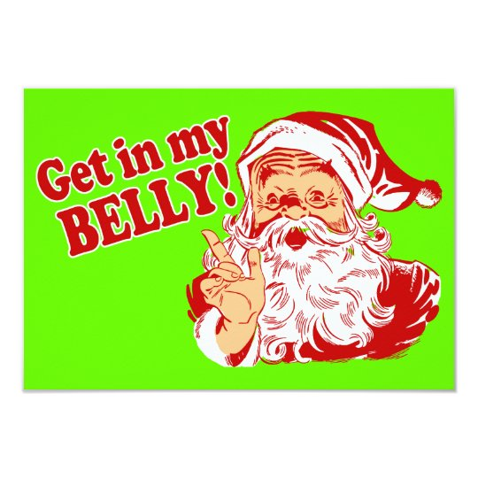 Get in My Belly Christmas Dinner Card