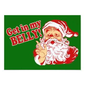 Get in My Belly Christmas Dinner Custom Invite