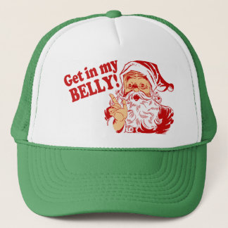 Get in My Belly Funny Christmas Trucker Hat