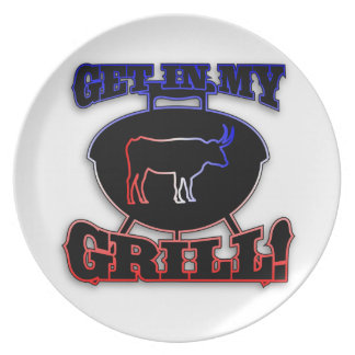 Get In My Grill American Barbecue BBQ Meat Plate