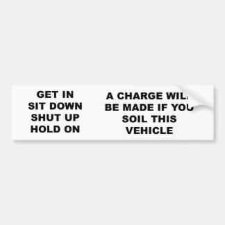 get_in_sit_down pegatina para auto
