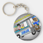 Get In the Back of the Bus Key Chain
