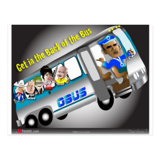 Get In the Back of the Bus Postcard