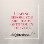 "Get In The Game Magnet<br><div class=""desc"">One of our favorite daughterhood quotes,  now in a magnet so you can remember it when it&#39;s important.</div>"