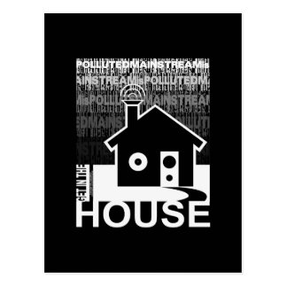 Get in the House Music Postcard