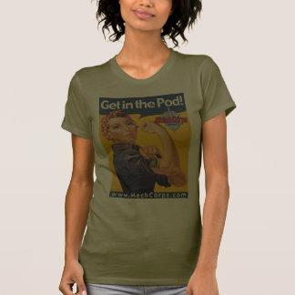 Get in the Pod - MAD cog - dark tshirt - MechCorps