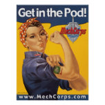 Get in the Pod! poster - MechCorps