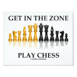 Get In The Zone Play Chess Personalized Announcement