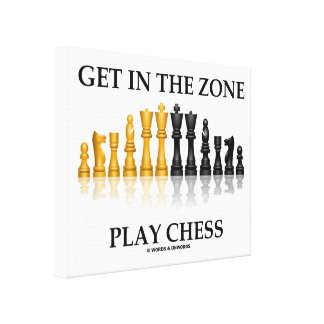 Get In The Zone Play Chess (Reflective Chess Set) Canvas Print
