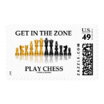 Get In The Zone Play Chess (Reflective Chess Set) Stamp