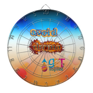 Get Inspired ~ Avoid Drama Dart Board