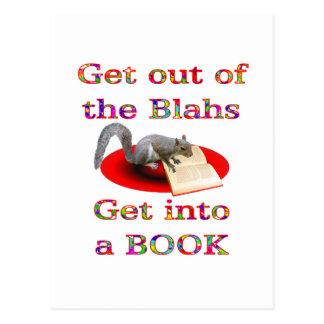 Get into a Book Postcard