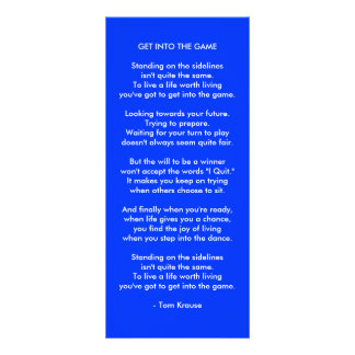 Get Into The Game Personalized Rack Card