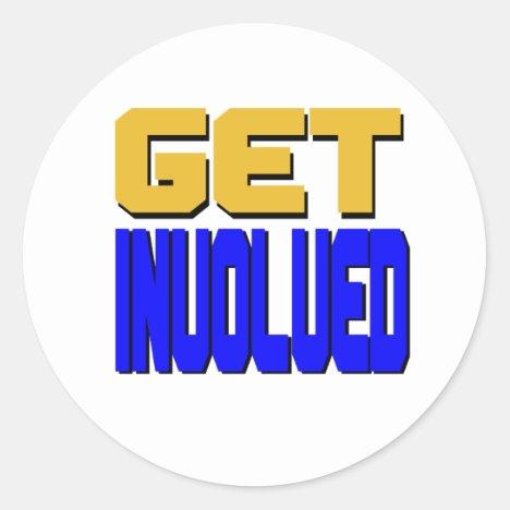 Get Involved Classic Round Sticker