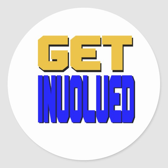 Get Involved Classic Round Sticker