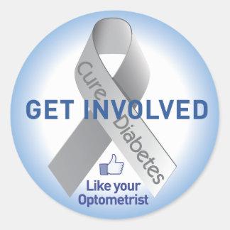 Get Involved Diabetes Sticker