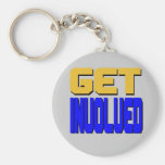 Get Involved Keychain (silver pictured)