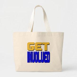 Get Involved Large Tote Bag