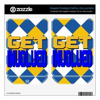 Get Involved Skin Portable Hard Drive Skin FreeAgent GoFlex Decal