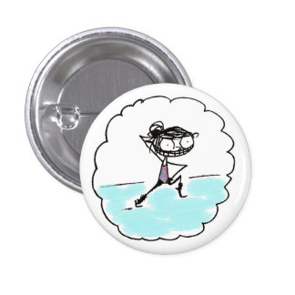 get it, girl pinback button