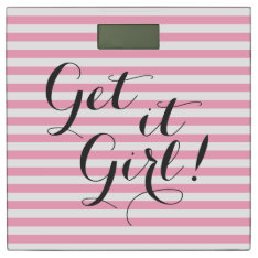 Get it Girl Striped Bathroom Scale at Zazzle