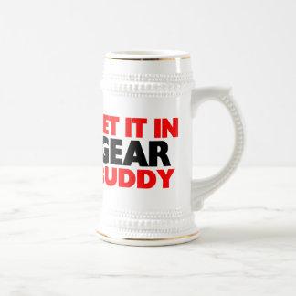 Get It In Gear Buddy Beer Stein
