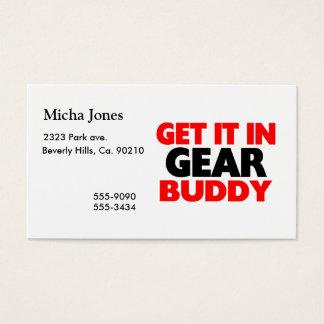 Get It In Gear Buddy Business Card