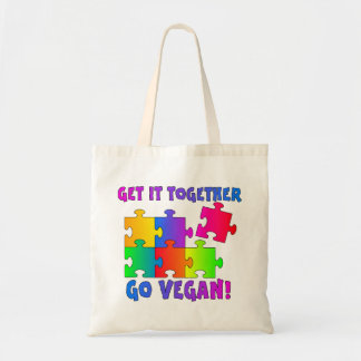 Get It Together Jigsaw Tote Bag