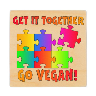 Get It Together Jigsaw Wooden Coaster