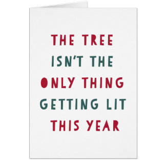 Get Lit | Funny Holiday Card