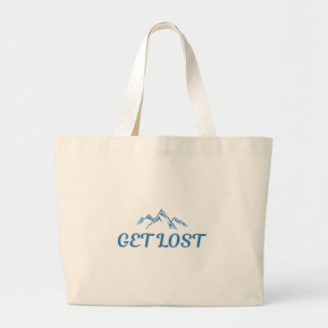 Beach Themed Get Lost Large Tote Bag