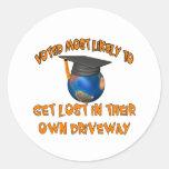 Get Lost Round Stickers