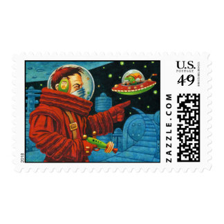 Get lost shorty! postage stamp